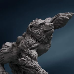 Wild-Bear-for-3D-printing
